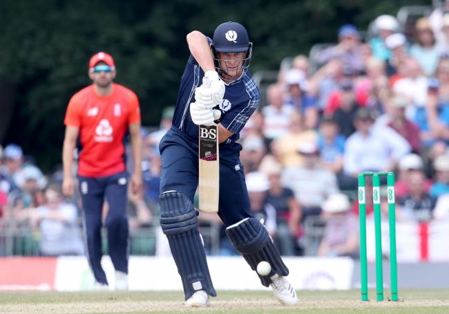 George Munsey in action for Scotland, who he helped reach next year's T20 World Cup with a man-of-the-match performance against the UAE 		 Picture: PA Wire