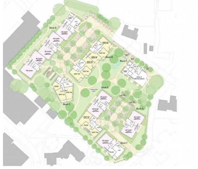 A design drawing of the new John Radcliffe accommodation. Picture: Oxford City Council.
