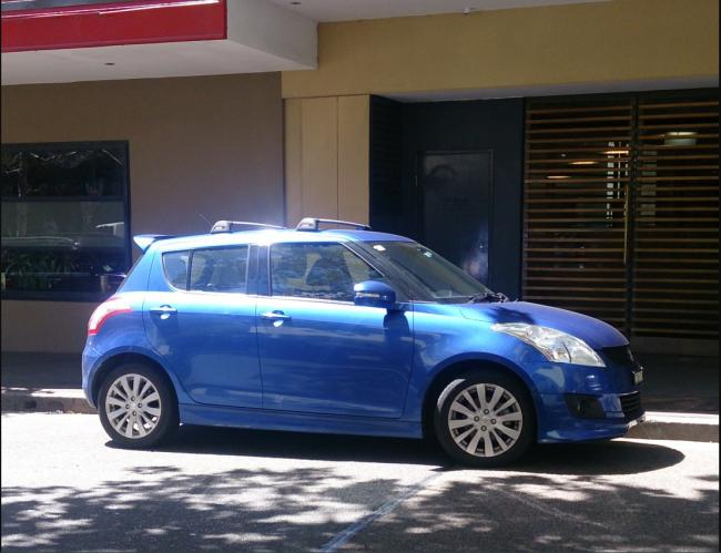 A blue Suzuki swift from FotoSleuth
