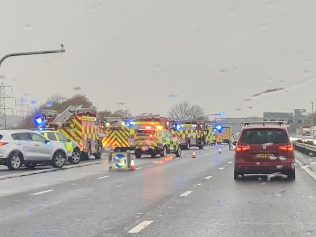 Emergency services on the M1