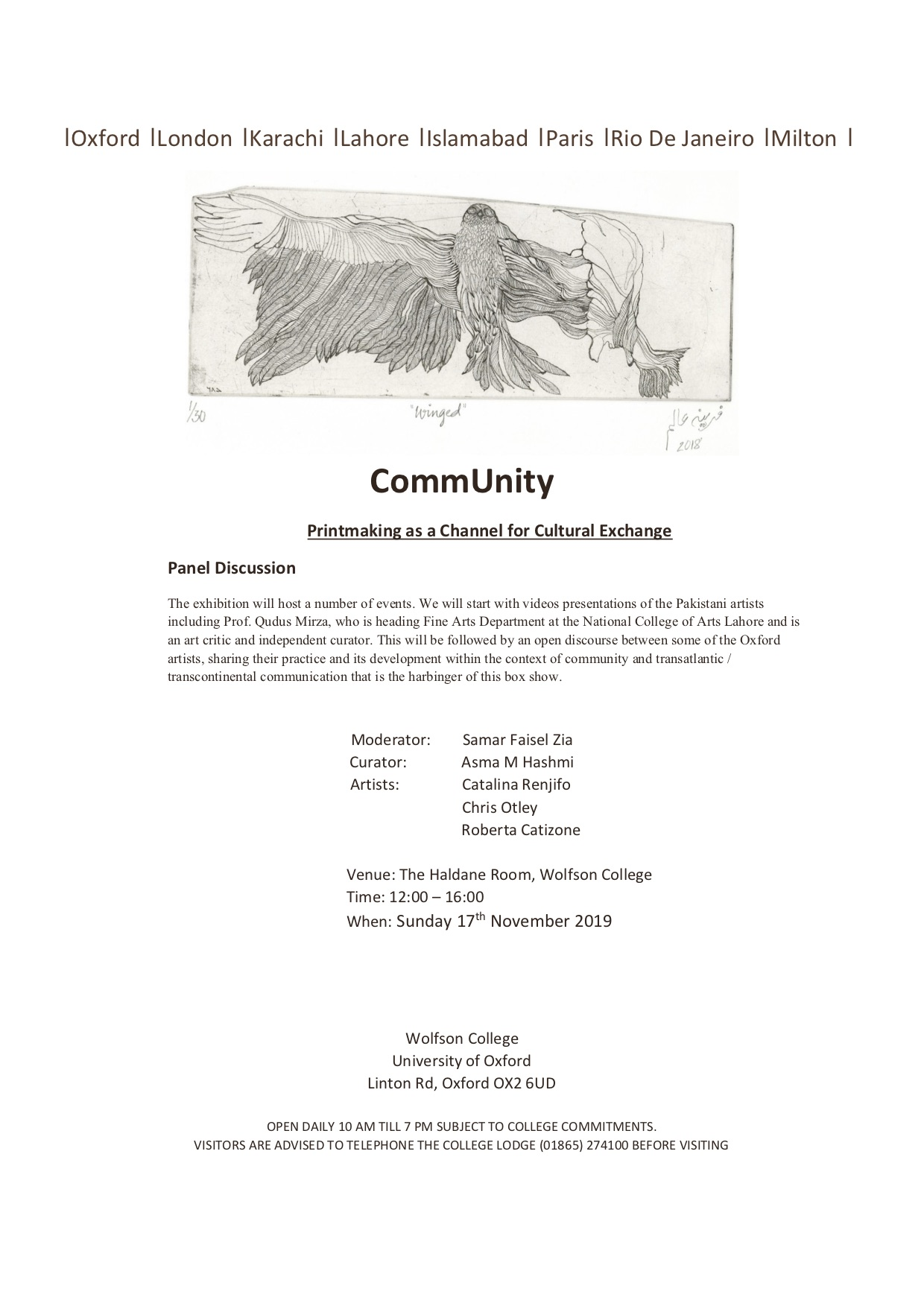 CommUnity Panel Discussion - Printmaking as a Channel for Cultural Exchange