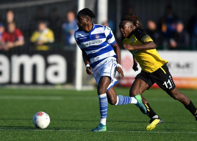 Nana Owusu scored one goal and made another in Oxford City's win over Kidlington   Picture: Mike Allen