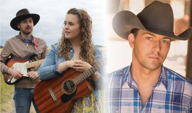 Katee Kross (left) to support country star William Michael Morgan (right) in Glasgow