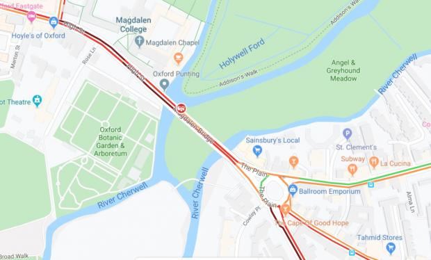 Oxford Mail: Pic: Google Maps Traffic