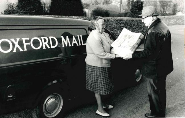 Oxford Mail delivery woman retires after 37 years in 1979