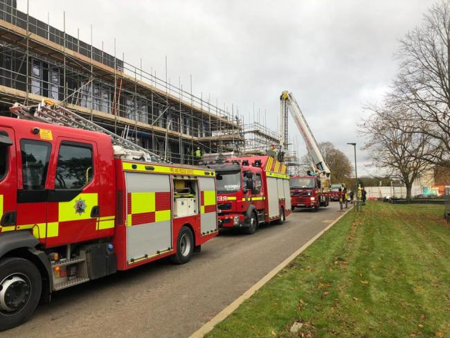 Fire crews rescue man at Graven Hill site