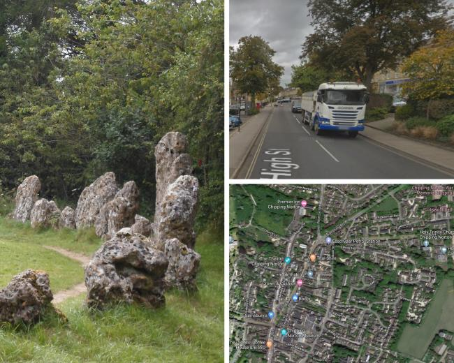 The group which looks after the Rollright Stones has questioned plans to divert lorries along a road next to them.