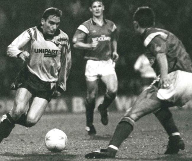John Durnin scored twice in Oxford United's 3-0 win at Southend United in November 1992
