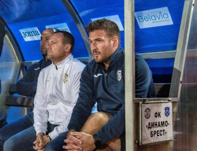 Peter Leven watches on from the bench  Picture: Dynamo Brest