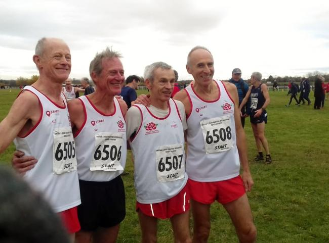 Stewart Thorp (right) with the victorious Great Britain Vet 65 team