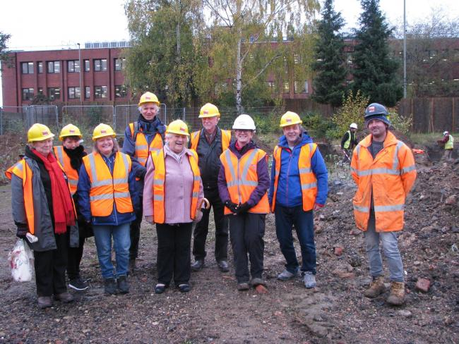 Cowley History Group and Littlemore History Group members at the former Murco site