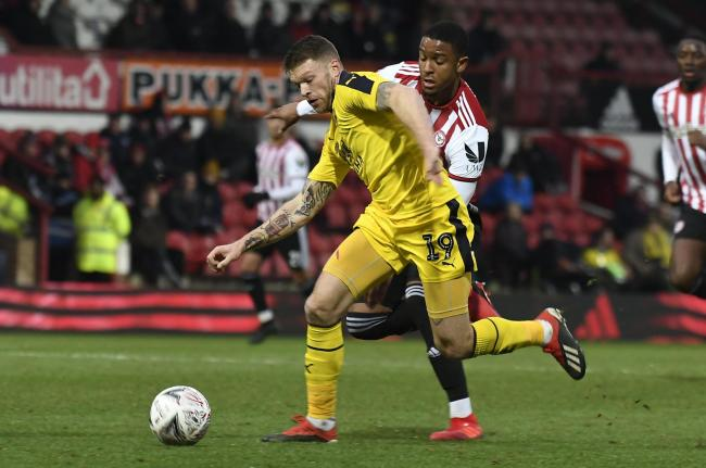 Jamie Mackie in action for Oxford United in last season's Emirates FA Cup third round, a 1-0 defeat at Brentford  Picture: David Fleming