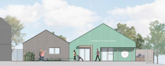 Design for the new Bullingdon Community Centre by Jessop and Cook Architects
