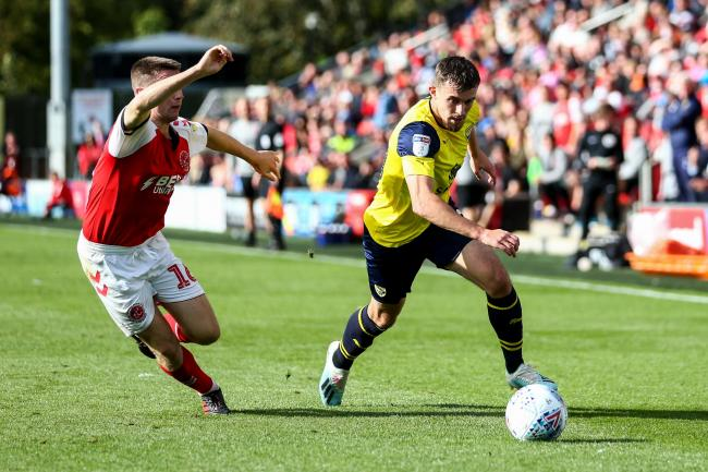 Jamie Hanson in action on his previous appearance, at Fleetwood Town in September  Picture: Robbie Jay Barratt