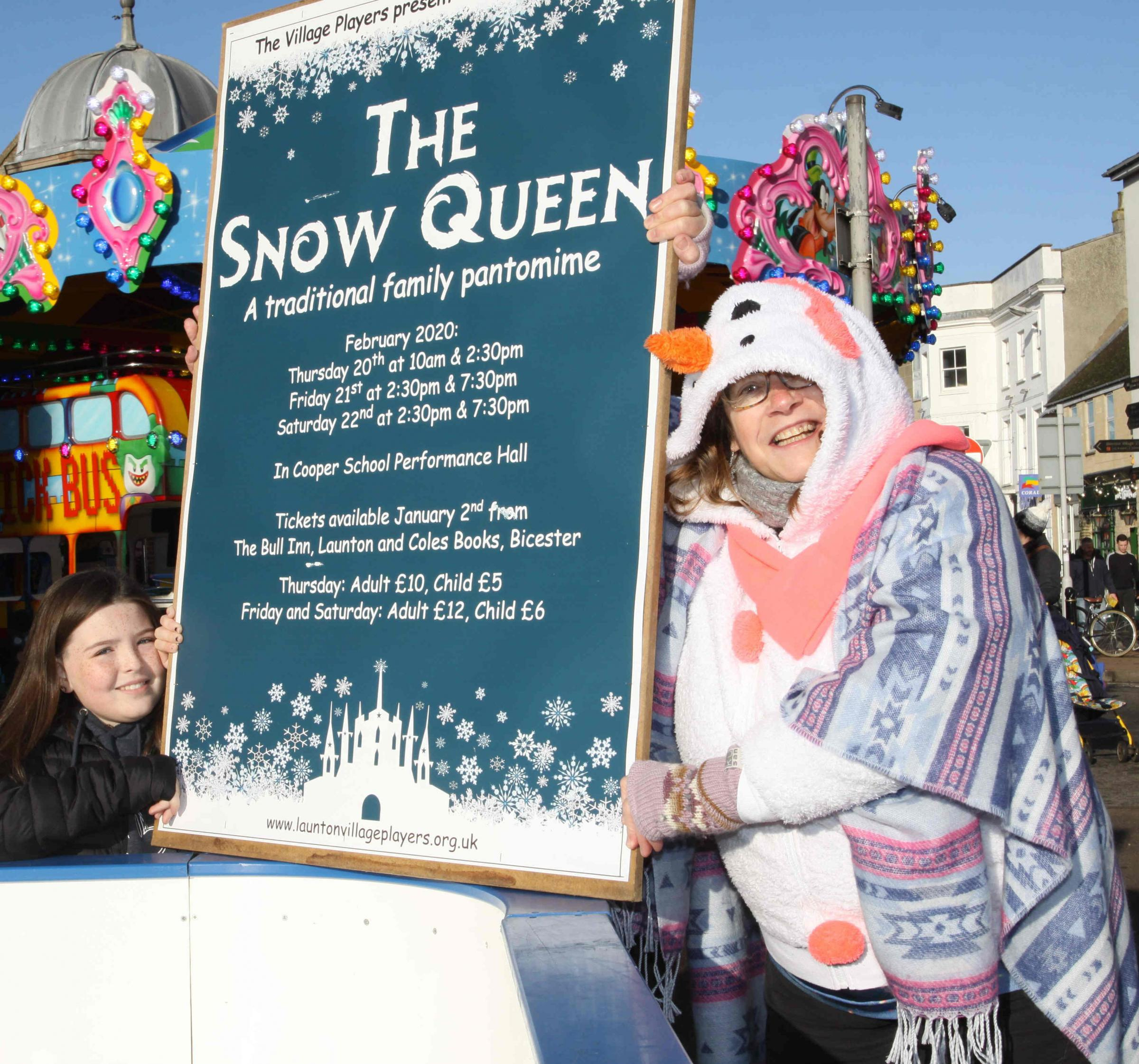 Preparations underway for The Snow Queen pantomime by Launton Village Players