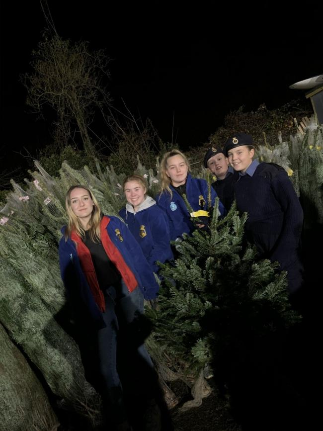 The Oxford Sea Cadets with their trees