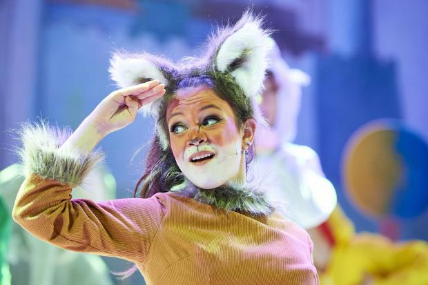 Animal magic: Adrianna Bertola stars as the Fox in Beauty and the Beast at Oxford Playhouse