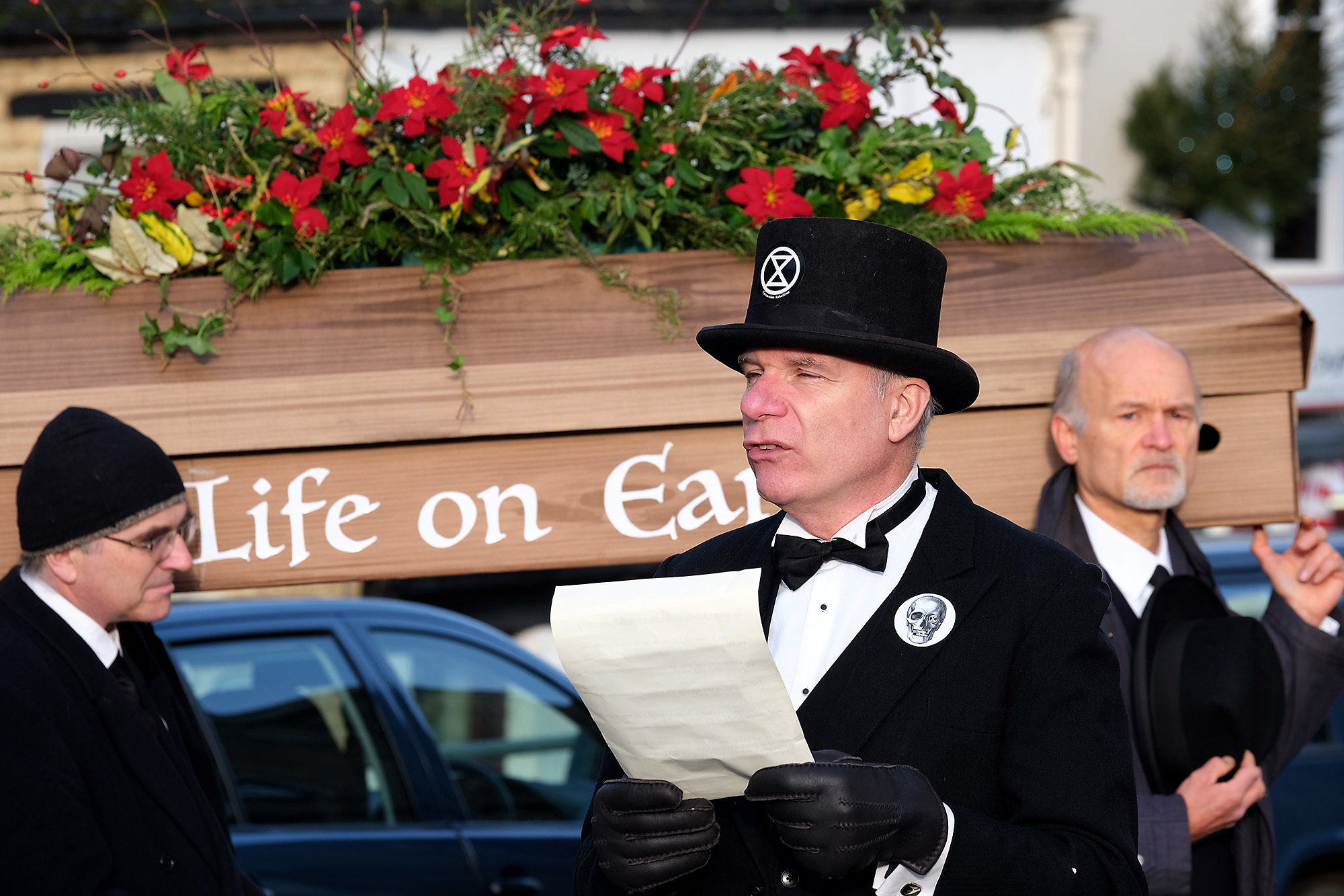 Extinction Rebellion held a funeral for Life on Earth
