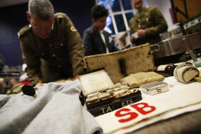 An artefact collection day at The Rumble Museum last year. Picture by Ed Nix
