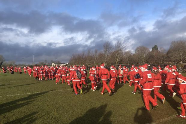 Santa Fun Run at Bicester village