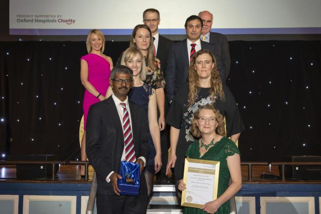 Horton General Hospital's Hip Fracture Team at the 2018 OUH Staff Awards. Picture: OUH