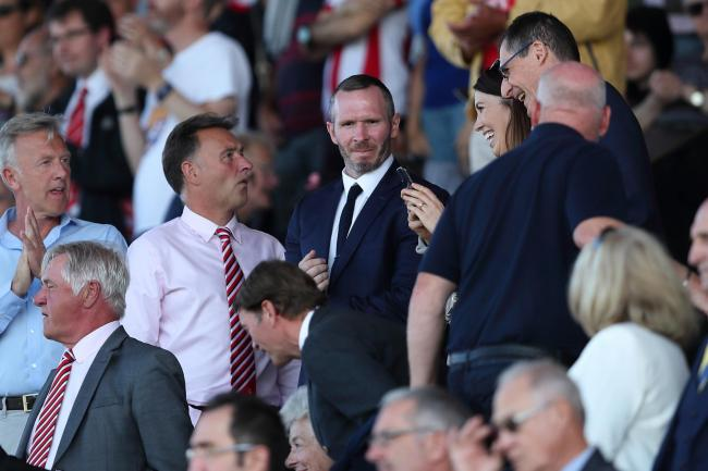 Michael Appleton watches on from the stands for Oxford United's win at Lincoln City in September  Picture: James Williamson