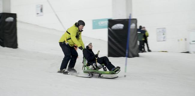 Undated handout photo issued by Care UK of 92-year-old Robert Trulocke going skiing for the first time ever at Snozone in Milton Keynes. PA Photo. Issue date: Thursday December 19, 2019. See PA story SOCIAL Ski. Photo credit should read: Care UK/PA Wire..