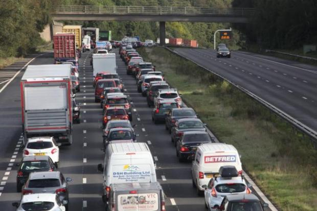 Multi-vehicle crash on M3