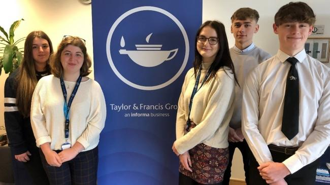 New Taylor & Francis apprenticeship scheme opens doors to the next generation in publishing. Pictured Emily Maughan (left).