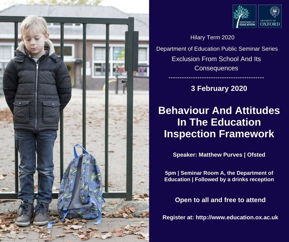 Behaviour and attitudes in the Education Inspection Framework