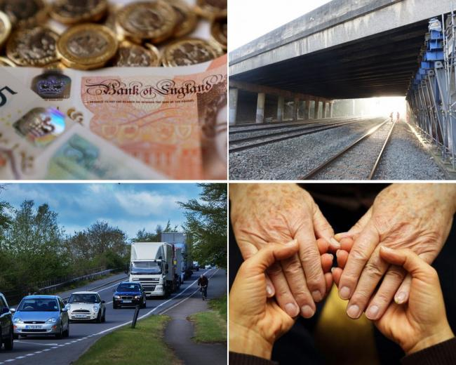 Some of the projects in OCC's budget - Kennington Bridge, A40 bus lane and social care