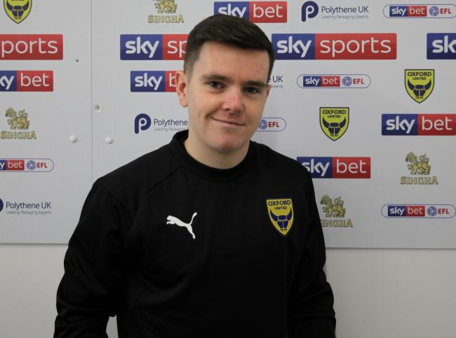 Liam Kelly at Oxford United's training ground today