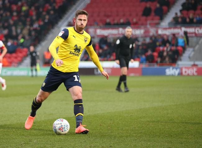 James Henry in action for Oxford United against Doncaster Rovers, where he suffered the injury  Picture: Richard Parkes
