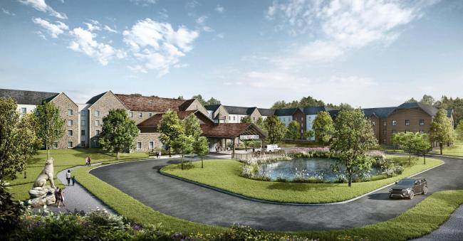 Artist impression of Great Wolf Lodge, Bicester
