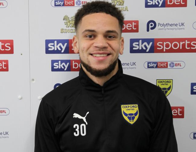 Marcus Browne at Oxford United's training ground today