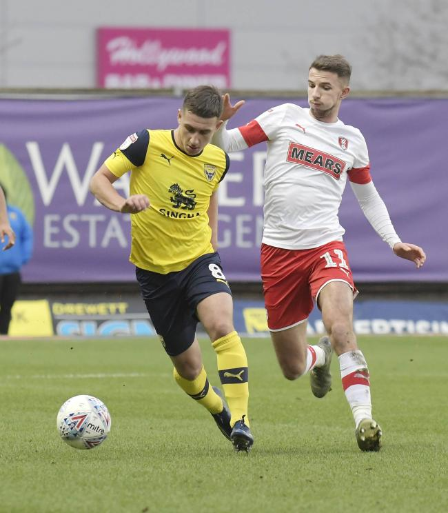 Cameron Brannagan in action for Oxford United against Rotherham United Picture: David Fleming