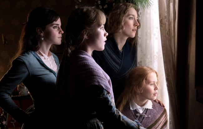 From left, Emma Watson as Meg March, Florence Pugh as Amy March, Saoirse Ronan as Jo March and Eliza Scanlen as Beth March. Pictures: PA Photo/Columbia Pictures Industries, Inc./Wilson Webb
