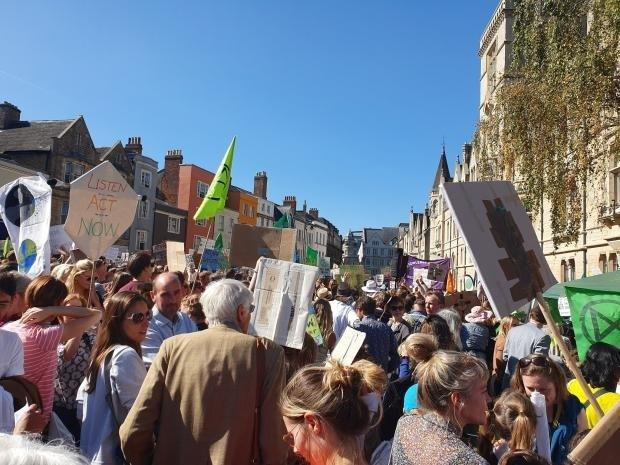 A climate strike at Broad Street, Oxford in September last year.
