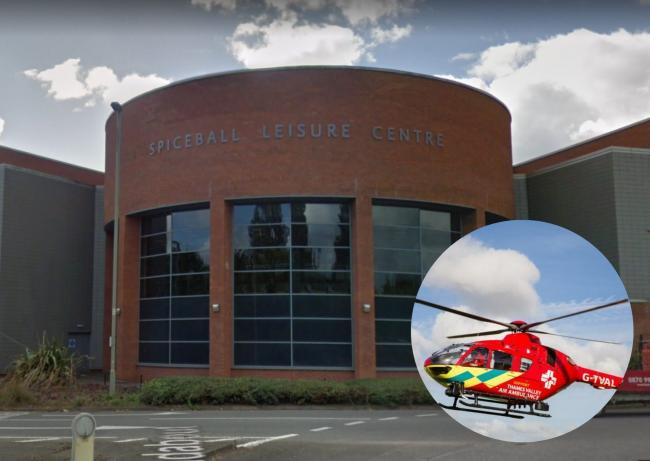 Air ambulance called to a medical emergency at leisure centre
