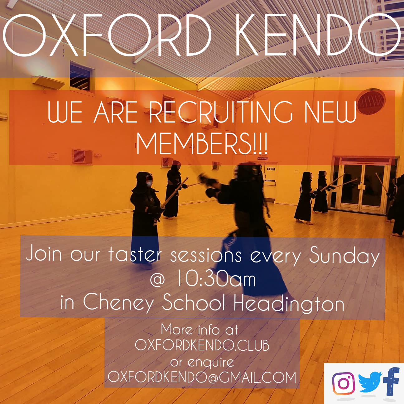 Oxford KENDO recruiting new members!!!