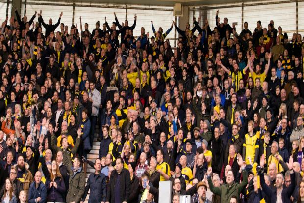 Oxford United fans at Middlesbrough in 2017  Picture: Richard Parkes