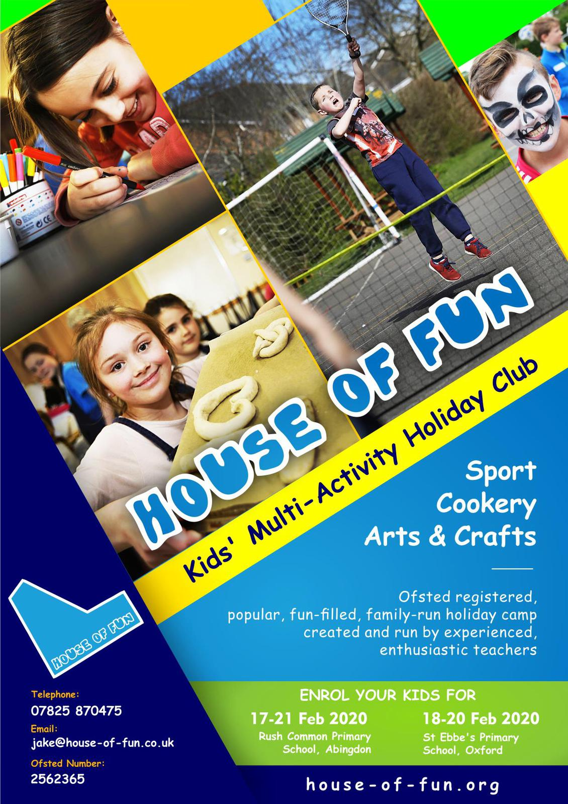House of Fun at St Ebbe's - February Half Term