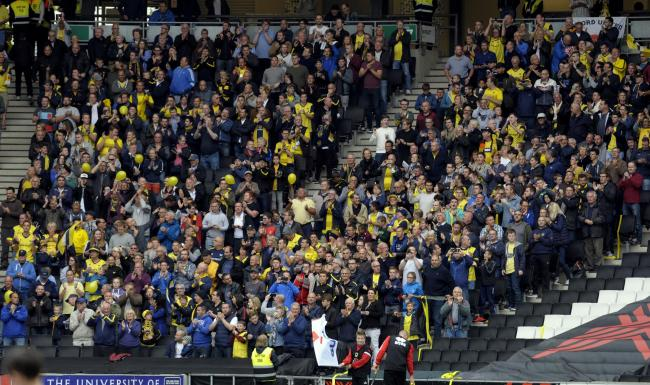 Oxford United fans at MK Dons in September 2016 Picture: David Fleming