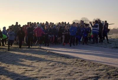 Kids take to frosty ground for launch of Bicester Junior Parkrun