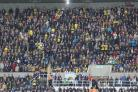 Oxford United fans at Newcastle on Saturday Picture: Richard Parkes