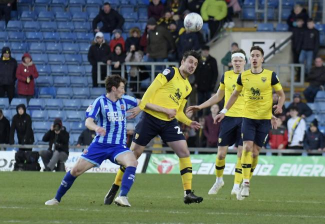 George Thorne in action for Oxford United against Blackpool earlier this month Picture: David Fleming