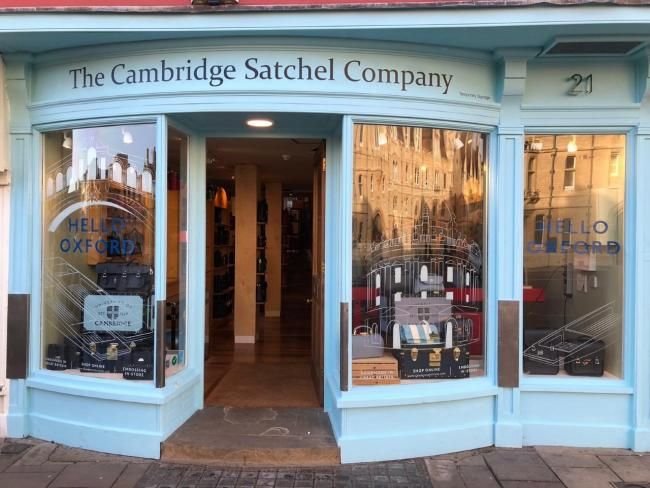The Cambridge Satchel Company opened in Broad Street, Oxford on Saturday