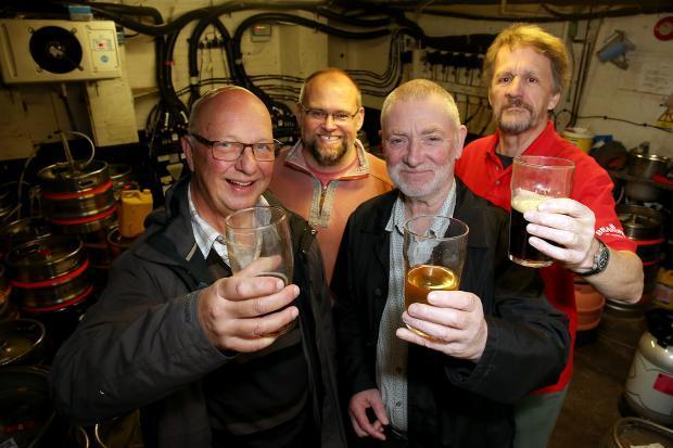 Oxford Mail: Dave Richardson, left and other members of Oxford branch of CAMRA