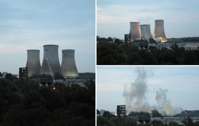 See the final Didcot power station demolition