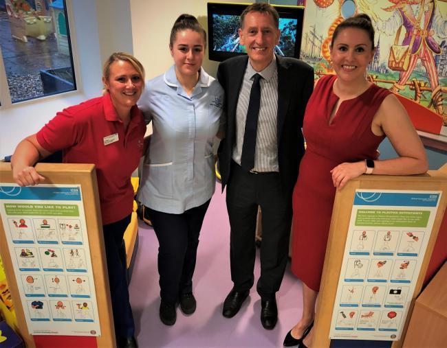 Jo Pinney, Senior Play Specialist; Britney Cox, Clinical Support Worker; David Johnson, Clinical Director and leader of the Oxford Craniofacial Unit; and Sarah Kilcoyne, Principal Specialist Speech and Language Therapist.